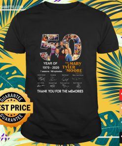 The Mary Tyler Moore Show 50th Years Of 1970-2020 signature shirt