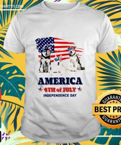 Husky America 4th of July Independence Day shirt