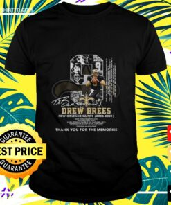Drew Brees New Orleans Saints 2006-2021 thank you for the memories signatures t-shirt