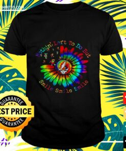 Grateful Dead Steal Your Face Nothin' Let's to do but smile smile smile tie dye t-shirt