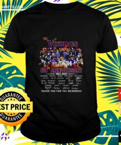 Men's the Vikings 60th anniversary thank you for the memories t-shirt