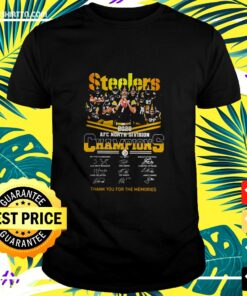 Steelers Afc North Division Champions Thank You For The Memories Signature t-shirt