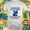Stitch say a bad word about autism I will slap you so hard t-shirt