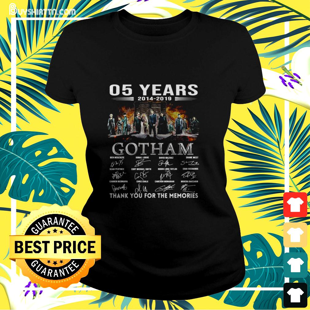 05 years 2014-2019 Gotham thank you for the memories ladies-tee