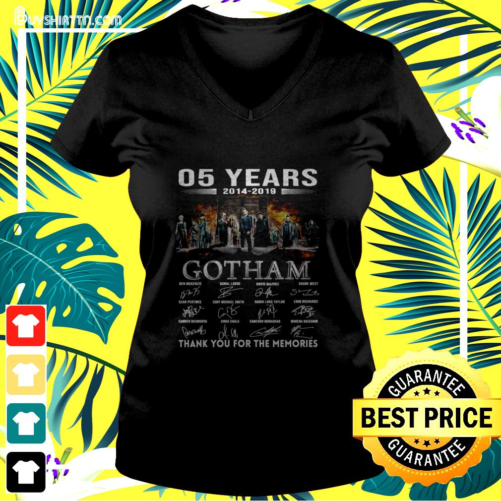 05 years 2014-2019 Gotham thank you for the memories v-neck t-shirt