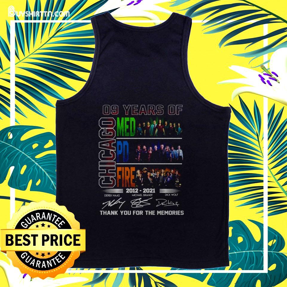 09 years of Chicago Med PD Fire thank you for the memories tanktop