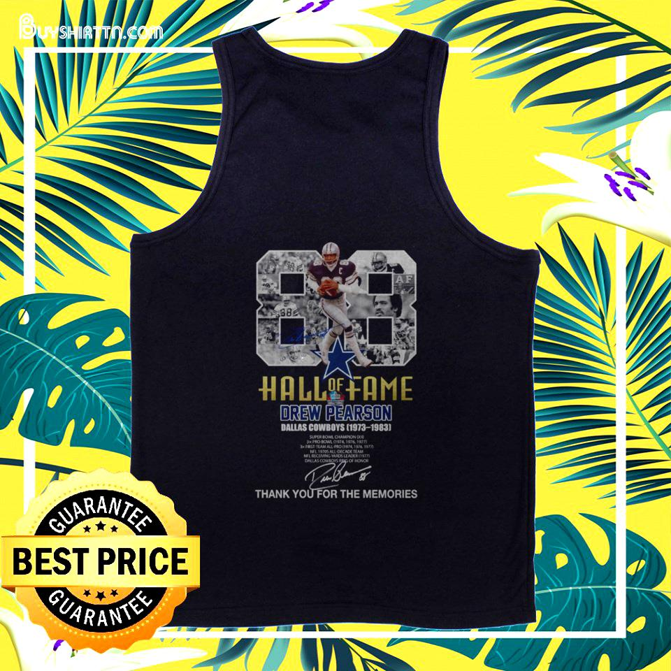 88 Hall of Fame Drew Pearson Dallas Cowboys 1973-1983 signature tanktop