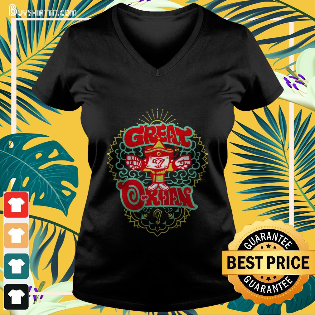 New Japan Pro Wrestling Great-O-Khan V-neck t-shirt