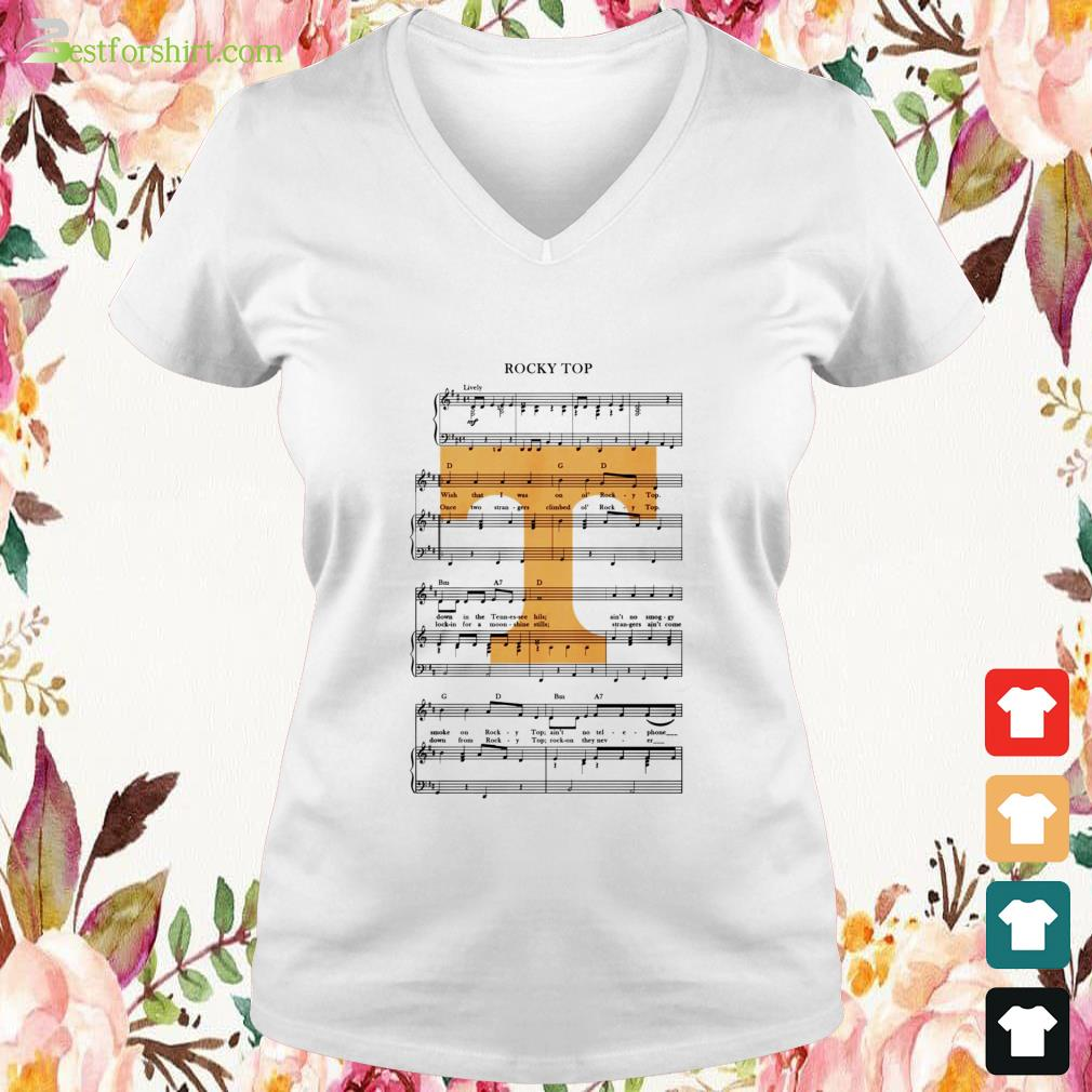 Tennessee Volunteers football Rocky top V-neck t-shirt